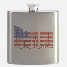 Patriotic Maryland Flask