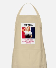 I wasn't using my civil liberties anyway BBQ Apron