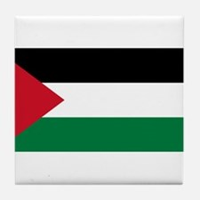 The Palestinian flag Tile Coaster