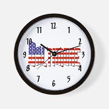 Patriotic Baltimore Wall Clock