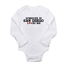 Unique I love san diego Long Sleeve Infant Bodysuit