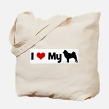 I love my Finnish Spitz Tote Bag