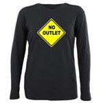 No Outlet Sign Plus Size Long Sleeve Tee
