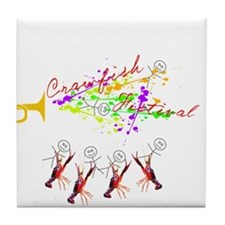 CRAWFISH FESTIVAL with Stick People Tile Coaster