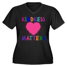 Unique Compassion Women's Plus Size V-Neck Dark T-Shirt