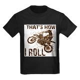 Dirt bike Kids T-shirts (Dark)