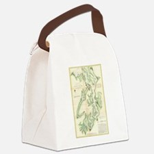 Vintage Map of The Puget Sound (1 Canvas Lunch Bag