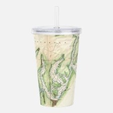 Vintage Map of The Pug Acrylic Double-wall Tumbler