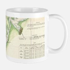Vintage Map of The Puget Sound (1867) Mugs