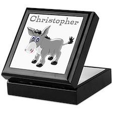 Personalized Donkey Keepsake Box