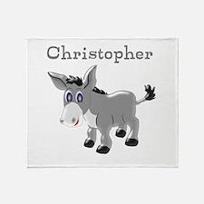 Personalized Donkey Throw Blanket