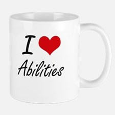I Love Abilities Artistic Design Mugs