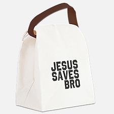 Jesus Saves Bro Canvas Lunch Bag