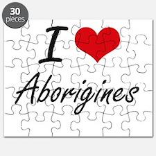 I Love Aborigines Artistic Design Puzzle