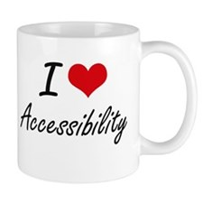 I Love Accessibility Artistic Design Mugs