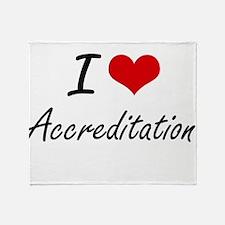I Love Accreditation Artistic Design Throw Blanket
