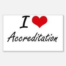 I Love Accreditation Artistic Design Decal