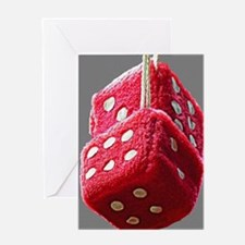 Red Fuzzy Dice Greeting Cards
