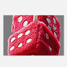 Red Fuzzy Dice Postcards (Package of 8)