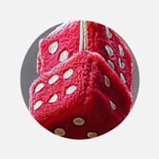Red Fuzzy Dice Button