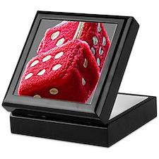 Red Fuzzy Dice Keepsake Box