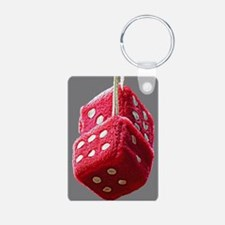 Red Fuzzy Dice Keychains