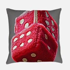 Red Fuzzy Dice Everyday Pillow