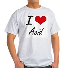 I Love Acid Artistic Design T-Shirt