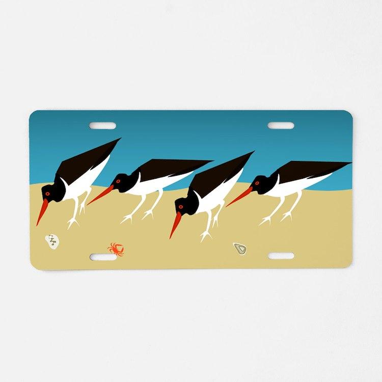 Oystercatchers Aluminum License Plate