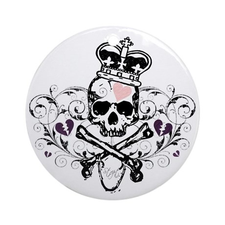 Royal Skull Design Ornament (Round)