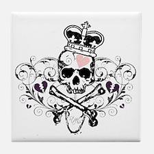 Royal Skull Design Tile Coaster