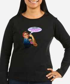 Rosie Fighting Cancer Design Long Sleeve T-Shirt