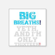 BIG BREATHS - YETH AND I'M ONLY THIXTEEN! Sticker