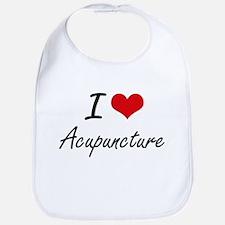 I Love Acupuncture Artistic Design Bib