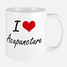 I Love Acupuncture Artistic Design Mugs