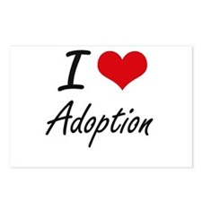 I Love Adoption Artistic Postcards (Package of 8)
