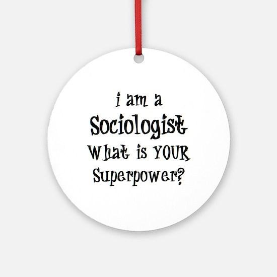 sociologist Round Ornament