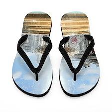 Fountain, Trafalgar Square, London Flip Flops