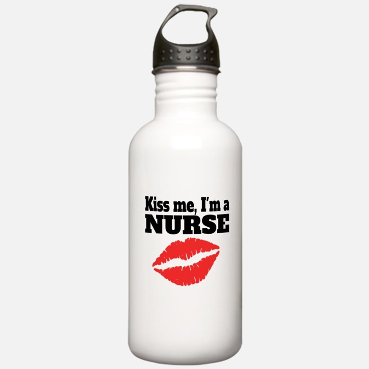 Kiss Me Im A Nurse Water Bottle
