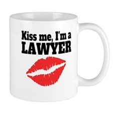 Kiss Me Im A Lawyer Mugs