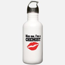Kiss Me Im A Chemist Water Bottle
