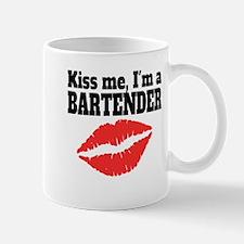 Kiss Me Im A Bartender Mugs
