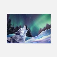 Winter Wolf 2015 Rectangle Magnet