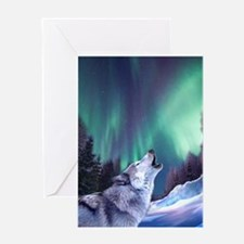 Winter Wolf 2015 Greeting Card