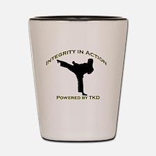 Taekwondo Integrity in Action Shot Glass
