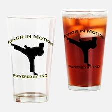 Taekwondo Honor in Motion Drinking Glass
