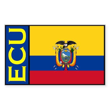 Ecuador flag stickers Rectangle Sticker