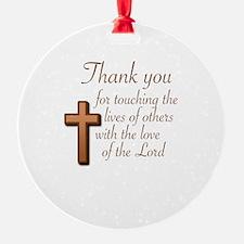 BIBLE TEACHERS/PREACHERS - THANK YO Ornament