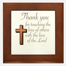 BIBLE TEACHERS/PREACHERS - THANK YOU F Framed Tile