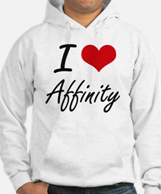 I Love Affinity Artistic Design Hoodie